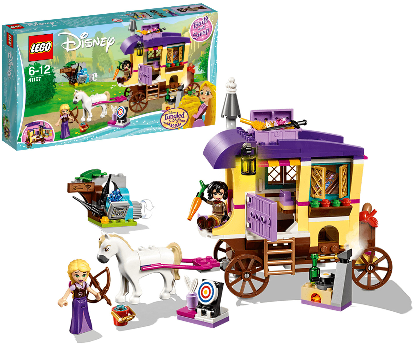 Конструктор Lego Disney Princess Экипаж Рапунцель 41157