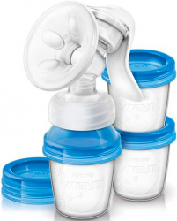Ручной молокоотсос Philips Avent Natural SCF330/13 с контейнерами